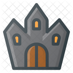 Haunted house Colored Outline Icon
