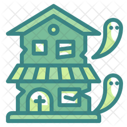 Haunted House Dualtone Icon
