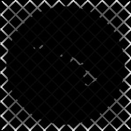 Hawaii Glyph Icon