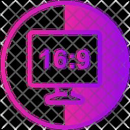 Hd Screen Ratio Icon