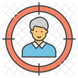 Headhunting Colored Outline Icon