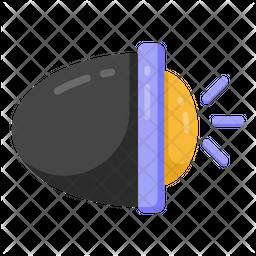 Headlight Flat Icon