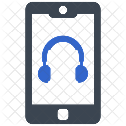 Headphone connect on mobile Icon