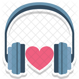 Headphone with heart Icon