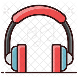 Headphones Colored Outline Icon