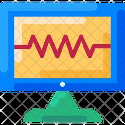 Health Monitoring Flat Icon