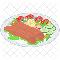 Healthy  Food Platter Icon