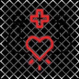 Healthy Heart Line Icon