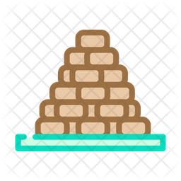 Heap Peat Colored Outline Icon