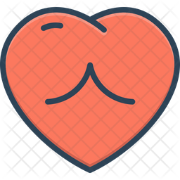 Heart Colored Outline Icon