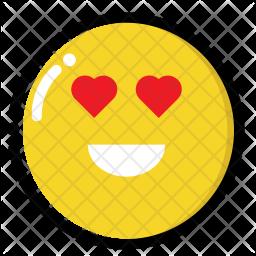 Heart-eye emoji Icon