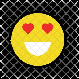 Heart eye emoji Emoji Icon