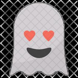 Heart Eyes Ghost Emoji Icon