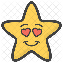 Heart Eyes Star Emoji Icon