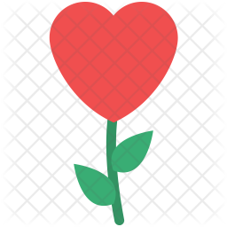 Heart flower Icon