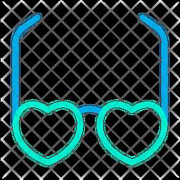 Heart Glasses Icon
