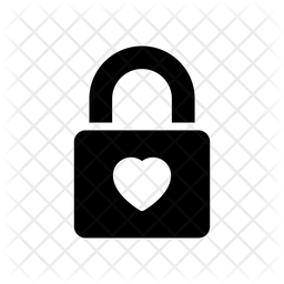 Heart Lock Icon Of Glyph Style Available In Svg Png Eps Ai Icon Fonts
