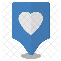 Heart, Love, Map, Pointer, Location Icon png