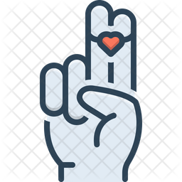 Heart On Two Finger Icon
