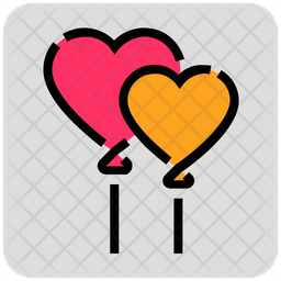 Heart Shape Love Colored Outline Icon