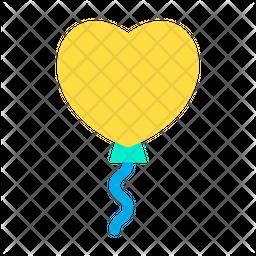 Heart ShapeBalloon Icon