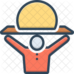Heavily Colored Outline Icon