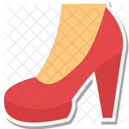 Heel Shoes Colored Outline Icon