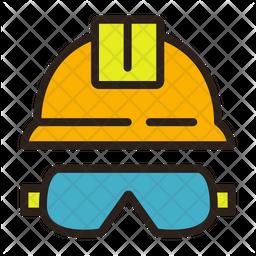 Helmet  glasses Icon
