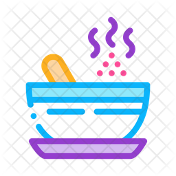 Herbal Bowl Colored Outline Icon