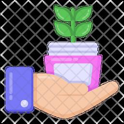 Herbal Cream Flat Icon