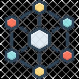 Hexagonal Interconnections Icon