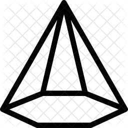 Hexagonal polygon Icon