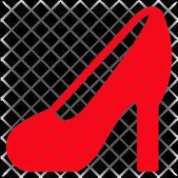 High Heel Glyph Icon