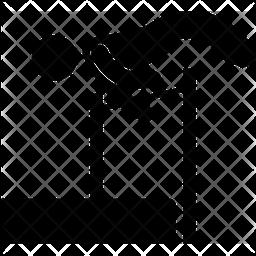 High Jump Glyph Icon