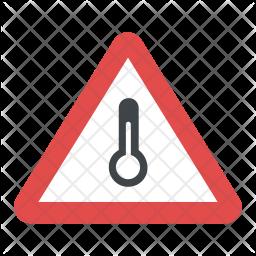 High Temperature Sign Icon