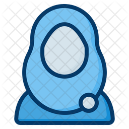 Hijab Colored Outline Icon
