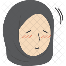 Hijab Girl Nodding Icon