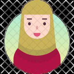 Hijab girl Gradient Icon