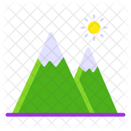 Hill Station Flat Icon