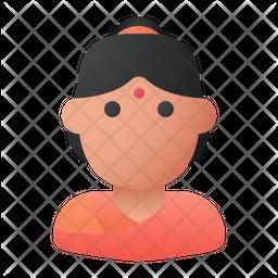 Hindu Woman Gradient Icon