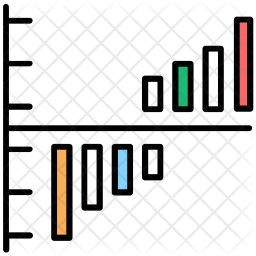 Histogram Colored Outline Icon