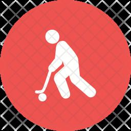 Hockey Glyph Icon