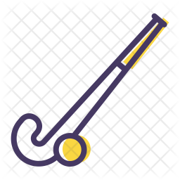 Hockey Colored Outline Icon