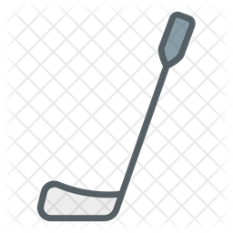 Hockey Stick Colored Outline Icon