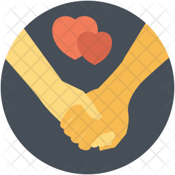 Holding Hands Flat Icon