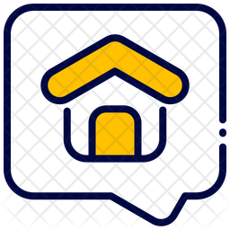 Real Estate Message Colored Outline Icon