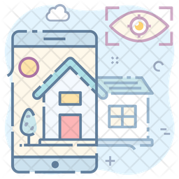Home App Colored Outline Icon