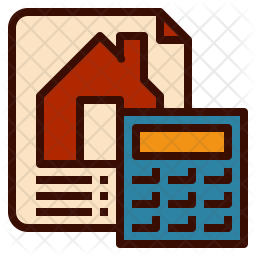 Home calculation Colored Outline Icon