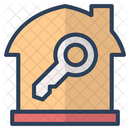 Home key Colored Outline Icon