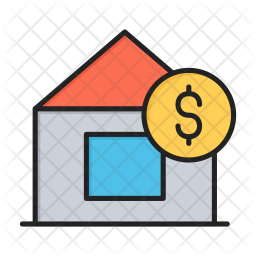 Home rent Colored Outline Icon